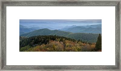 Blue Ridge Evening Framed Print by Andrew Soundarajan