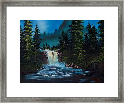 Mountain Falls Framed Print by C Steele
