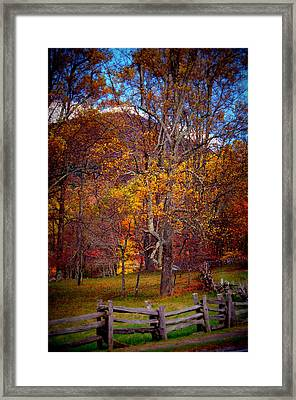 Blue Ridge Fenced In Fall Framed Print