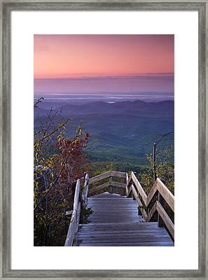 Blue Ridge Morning Framed Print by Andrew Soundarajan