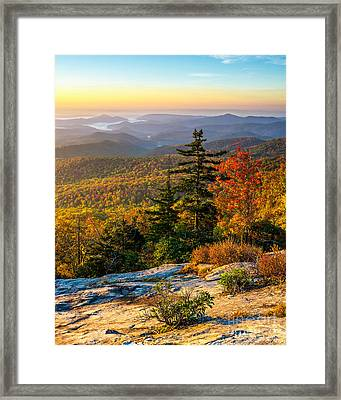 Blue Ridge Morning Framed Print