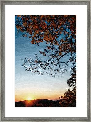 Blue Ridge Mountail Fall Framed Print