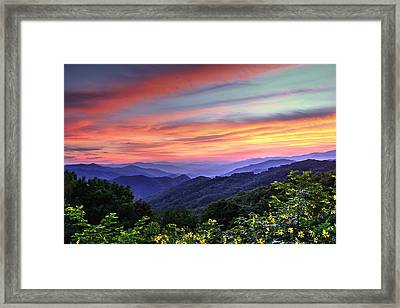 Blue Ridge Mountain Color Framed Print