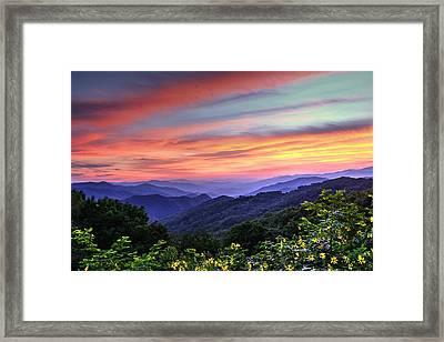 Blue Ridge Mountain Color Framed Print by Carol R Montoya
