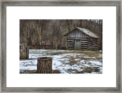 Blue Ridge Mountain Farm Framed Print by Steve Hurt