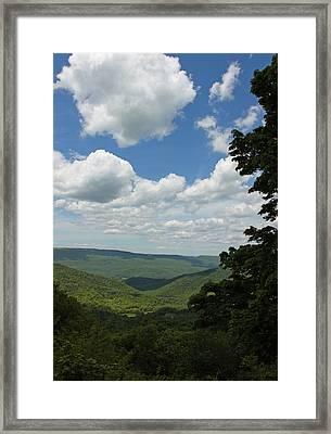 Blue Ridge Mountain Scenic - Craig County Va IIi Framed Print