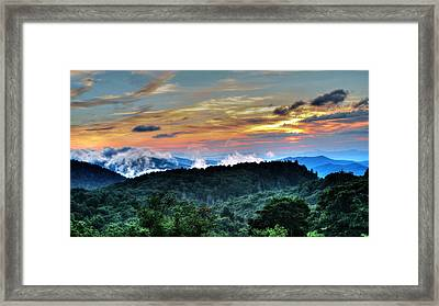 Blue Ridge Mountain Sunrise  Framed Print
