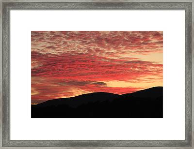 Framed Print featuring the photograph Blue Ridge Mountain Sunset-alabama by Mountains to the Sea Photo