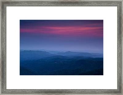 Blue Ridge Mountain View Framed Print by Andrew Soundarajan