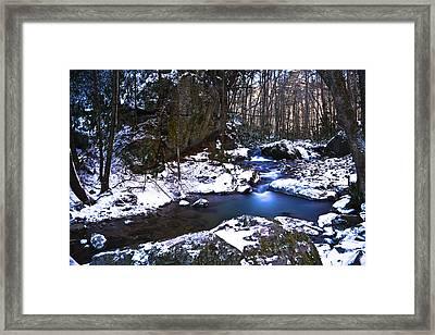 Blue Ridge Mountain Winter Framed Print by Ryan Phillips