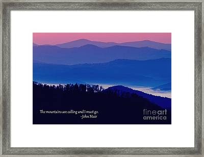 Blue Ridge Mountains Framed Print by Dawna  Moore Photography