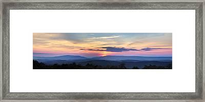 Blue Ridge Mountains Framed Print by Debra and Dave Vanderlaan