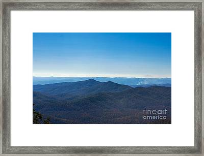 Framed Print featuring the painting Blue Ridge Mountains by Debra Crank