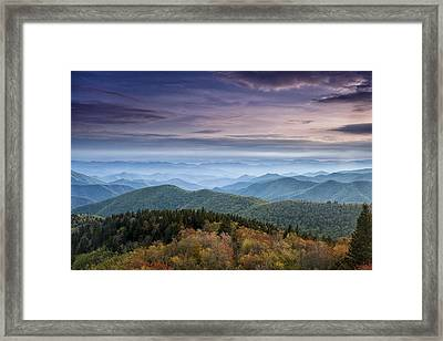 Blue Ridge Mountains Dreams Framed Print by Andrew Soundarajan