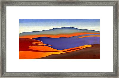 Blue Ridge Mountains East Fall Art Abstract Framed Print