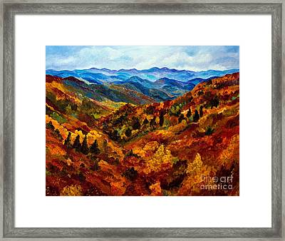 Blue Ridge Mountains In Fall II Framed Print
