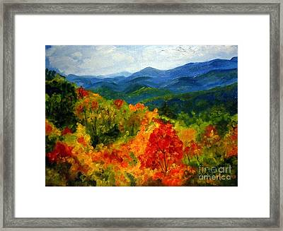 Blue Ridge Mountains In Fall Framed Print