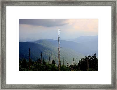 Blue Ridge Mountains Framed Print by Karen Wiles