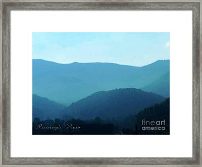 Blue Ridge Mountains Framed Print by Lorraine Heath