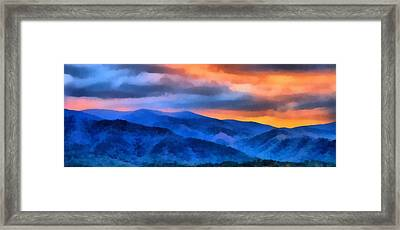 Blue Ridge Mountains Sunrise Framed Print by Dan Sproul