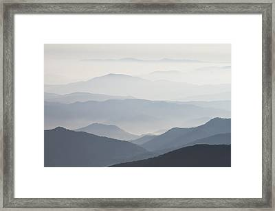 Blue Ridge Mountains View From Roan Mountain Balds Framed Print by Bill Swindaman