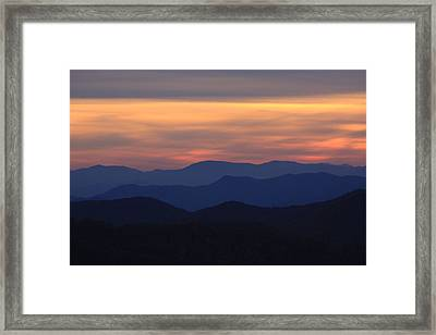 Blue Ridge Nc Framed Print
