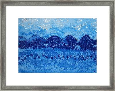 Blue Ridge Original Painting Framed Print by Sol Luckman