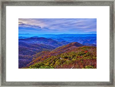Framed Print featuring the photograph Blue Ridge Parkway by Alex Grichenko