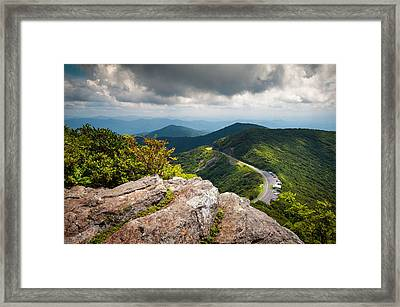Blue Ridge Parkway - Asheville Nc Craggy Gardens Overlook Framed Print by Dave Allen