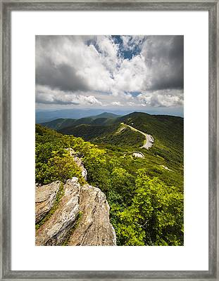 Blue Ridge Parkway Craggy Gardens Asheville Nc - Craggy Pinnacle Framed Print by Dave Allen