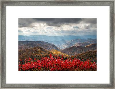 Blue Ridge Parkway Fall Foliage - The Light Framed Print by Dave Allen
