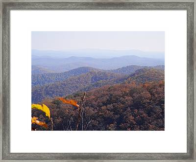 Blue Ridge Parkway Horizon Framed Print by Angelia Hodges Clay