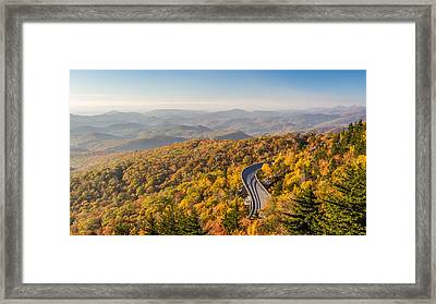 Blue Ridge Parkway In Peak Autumn Colors Framed Print by Pierre Leclerc Photography