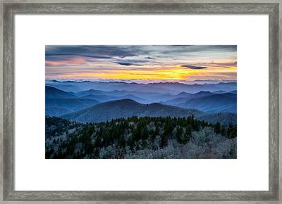 Blue Ridge Parkway Landscape Photography - Hazy Shades Of Winter Framed Print