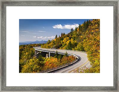 Blue Ridge Parkway Linn Cove Viaduct - North Carolina Framed Print by Dave Allen