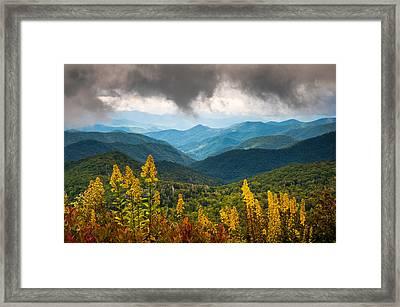 Blue Ridge Parkway Nc Photography North Carolina Scenic Landscape Framed Print
