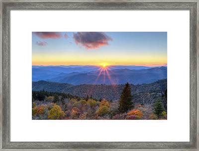 Blue Ridge Parkway Nightfall Serenity Framed Print by Mary Anne Baker