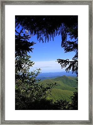 Framed Print featuring the photograph Blue Ridge Parkway Norh Carolina by Mountains to the Sea Photo