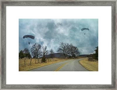 Blue Ridge Parkway Parachutist Framed Print by Betsy Knapp