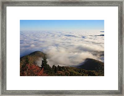 Blue Ridge Parkway Sea Of Clouds Near Graveyard Fields Framed Print