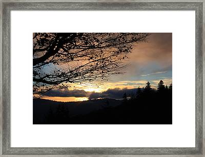 Framed Print featuring the photograph Blue Ridge Parkway Sunrise by Mountains to the Sea Photo