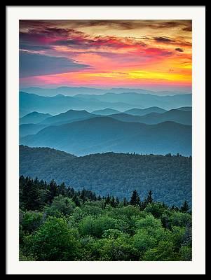 Southern Appalachians Framed Prints