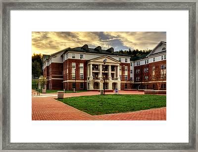 Blue Ridge Residence Hall - Wcu Framed Print