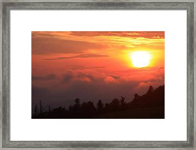 Blue Ridge Sunrise Great Balsam Mountains Framed Print