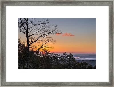 Framed Print featuring the photograph Blue Ridge Sunrise by Gregg Southard
