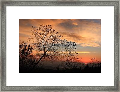 Framed Print featuring the photograph Blue Ridge Sunrise by Mountains to the Sea Photo