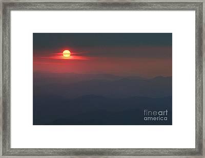 Blue Ridge Sunset 5 Framed Print