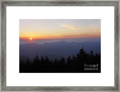 Blue Ridge Sunset 6 Framed Print