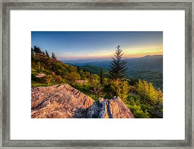 Blue Ridge Sunset Framed Print by Doug McPherson