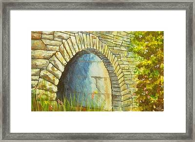 Blue Ridge Tunnel Framed Print